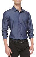 Boss by Hugo Boss Denim Jacquard Sport Shirt - Lyst