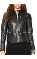 Ralph Lauren Lauren Petites Leather Biker Jacket - Lyst