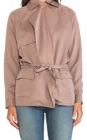 Michael Stars Long Sleeve Belted Trench - Lyst
