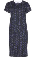 Balenciaga Printed Cotton T-shirt Dress - Lyst
