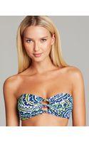 Ralph Lauren Lauren Matira Paisley Knot Tie Back Bandeau Bikini Top - Lyst
