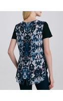 Rebecca Taylor Silk Floral Tee - Lyst