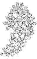Michael Kors Crystal Brooch - Lyst