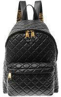 Moschino Quilted Leather Backpack - Lyst