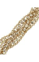 ABS by Allen Schwartz Goldtone Mixed Chain and Crystal Accent Flex Bracelet - Lyst