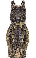 McQ by Alexander McQueen Cross Back Printed Cotton Blend Dress - Lyst