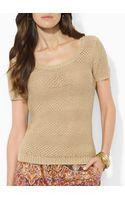 Ralph Lauren Lauren Petites Knit Stripe Sweater - Lyst