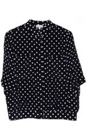 Suno Polka Dot Button Down Top - Lyst