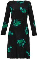 Nina Ricci Floralprint Silk Dress - Lyst