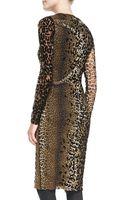Jean Paul Gaultier Longsleeve Leopardprint Dress - Lyst