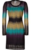 M Missoni Variegated Knit Dress - Lyst