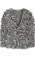 Oscar de la Renta Loopedknit Wool and Silkblend Jacket - Lyst