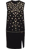 Alexander McQueen Crystalembellished Crepe Mini Dress - Lyst