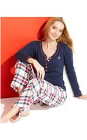 Tommy Hilfiger Winter Break Flannel Top and Pajama Pants Set - Lyst