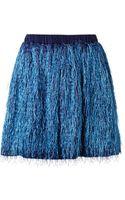 Julien David Metallic Fringed Mini Skirt - Lyst