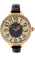 Betsey Johnson Womens Black Patent Leather Strap Watch 47mm 02 - Lyst