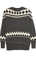 Adam Lippes Fair Isle Wool and Cashmereblend Sweater - Lyst