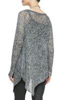 Eileen Fisher Asymmetric Linen Mesh Top - Lyst