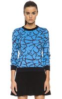 Opening Ceremony Crackle Jacquard Sweater - Lyst