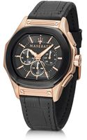 Maserati Fuoriclasse Chronograph Dial and Black Eco-leather Strap Mens Watch - Lyst
