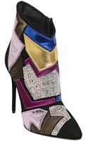 Giuseppe Zanotti 115mm Patchwork Suede Ankle Boots - Lyst