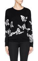Alice + Olivia Butterfly Intarsia Wool Sweater - Lyst