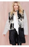 Nasty Gal Glamorous Tone Up Faux Fur Coat - Lyst