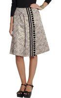 Marni Crystalembellished Jacquard Skirt - Lyst