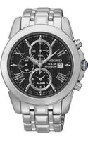 Seiko Mens Chronograph Le Grand Sport Solar Stainless Steel Bracelet Watch 42mm Ssc193 - Lyst