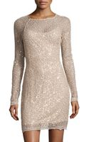 Halston Heritage Sequin Lace Sheath Dress - Lyst