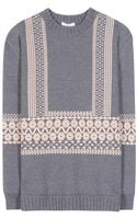 Chloé Intarsia Wool Sweater - Lyst