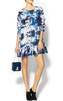 Cynthia Rowley Exaggerated Ruffle Dress - Lyst