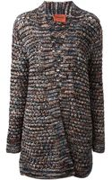 Missoni Chunky Knit Long Cardigan - Lyst