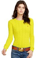 Polo Ralph Lauren Cabled Crew Neck Sweater - Lyst