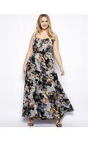 Little Mistress Floral Print Maxi Dress - Lyst