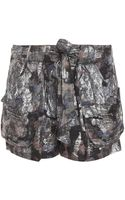 Isabel Marant Padu Lurex Shorts - Lyst