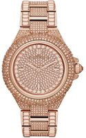 Michael Kors Womens Camille Glitz Rose Goldtone Stainless Steel Bracelet Watch 43mm - Lyst