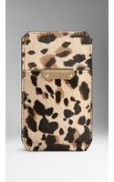 Burberry Animal Print Ponyskin Iphone 55s Case - Lyst