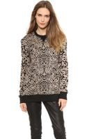 Rag & Bone Amoeba Print Sweatshirt Black - Lyst