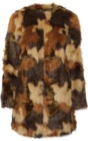 Michael by Michael Kors Camouflage Faux Fur Coat - Lyst