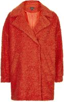 Topshop Womens Slouchy Wool Boyfriend Coat - Bright Red - Lyst
