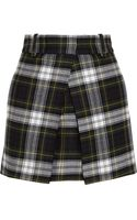 McQ by Alexander McQueen Checked Wool Mini Skirt - Lyst