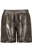 Muubaa Nuru Metallic Suede Shorts - Lyst