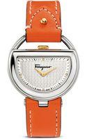 Ferragamo Stainless Steel Silver Dial Watch 37mm - Lyst