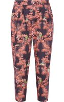 M Missoni Tropicalprint Stretchcotton Tapered Pants - Lyst