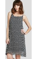 BCBGeneration Dress Zigzag Pleated - Lyst