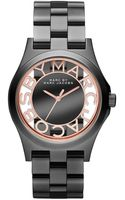 Marc By Marc Jacobs Womens Henry Gunmetaltone Stainless Steel Bracelet 40mm - Lyst
