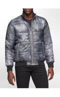 Calvin Klein Metallic Zip Front Puffer Jacket - Lyst