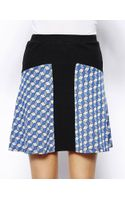 Love Zooey High Waisted Circle Skirt in Geo Jacquard Knit - Lyst