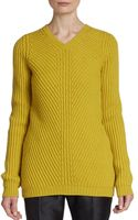Jil Sander Ribbed Wool Cashmere Sweater - Lyst